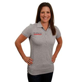 Platinum Women's Heather Gray Ariat Prix Polo Shirt