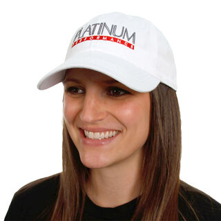 White Unstructured Hat