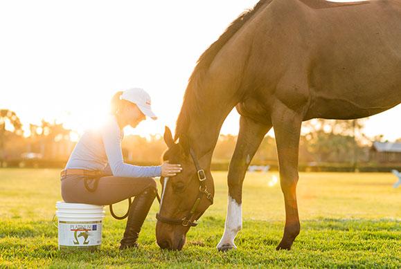 Karen Polle with horse