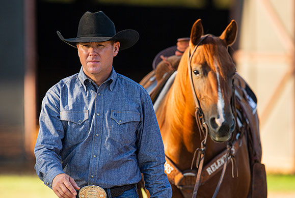 Trevor Brazile with horse