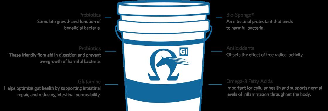 Platinum Performance GI Bucket, Prebiotics, Probiotics, Glutamine, Bio-Sponge, Antioxidants, Omega-3 Fatty Acids